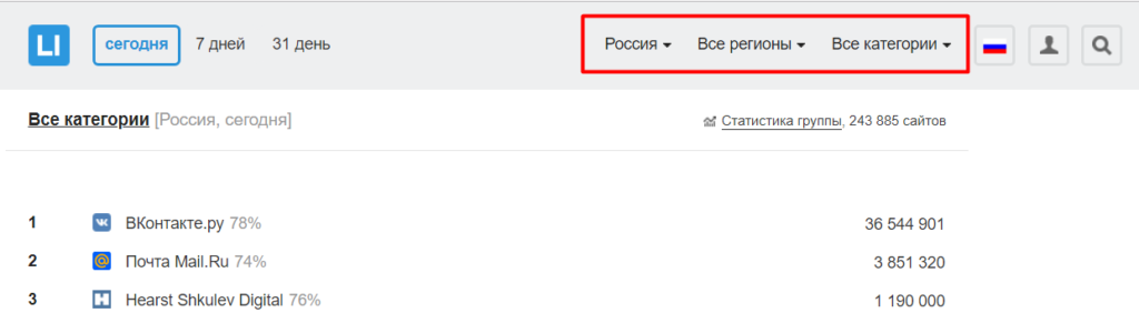 Подбор ссылки liveinternet.ru